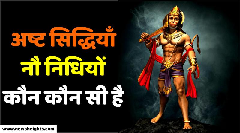 Hanuman Ashta Sidhi Nav Nidhi ke data